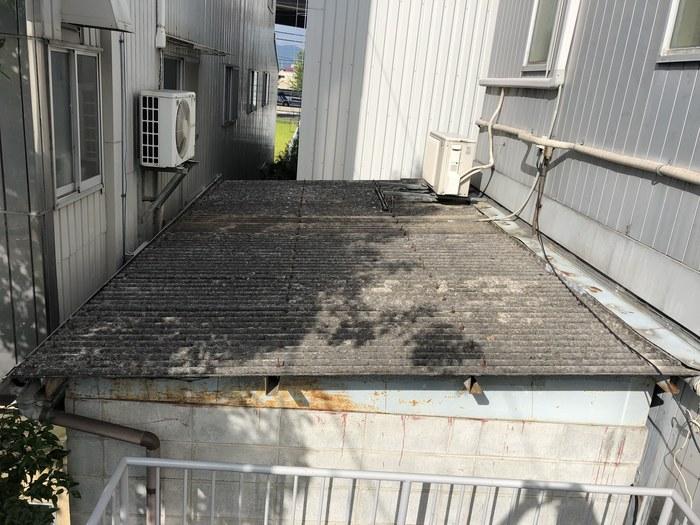 スレート屋根 改修 カバー工法